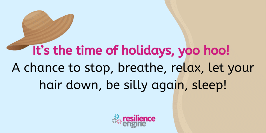 It's the time of holidays, yoo hoo! A chance to stop, breathe, relax, let your hair down, be silly again, sleep!